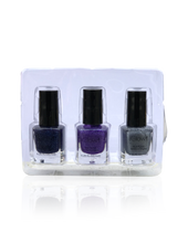 Load image into Gallery viewer, IGlow Nail Polish 3Pk (Sparkle Shades - Navy Blue, Violet, Silver) - Smart Care