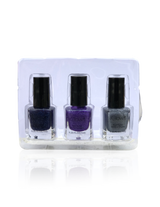 IGlow Nail Polish 3Pk (Sparkle Shades - Navy Blue, Violet, Silver) - Smart Care