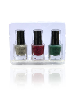 IGlow Nail Polish 3Pk (Sparkle Shades - Hazel Wood, Jam, Pine) - Smart Care