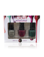 Load image into Gallery viewer, IGlow Nail Polish 3Pk (Sparkle Shades - Hazel Wood, Jam, Pine) - Smart Care
