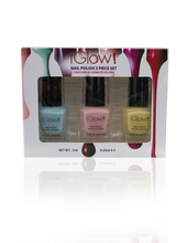 Load image into Gallery viewer, IGlow Nail Polish 3Pk (Shades - Sky Blue, Peach, Daffodil) - Smart Care