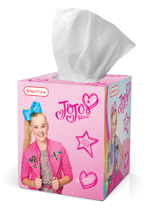Smart Care JoJo Siwa Tissue Box - 85 Count 2 Ply