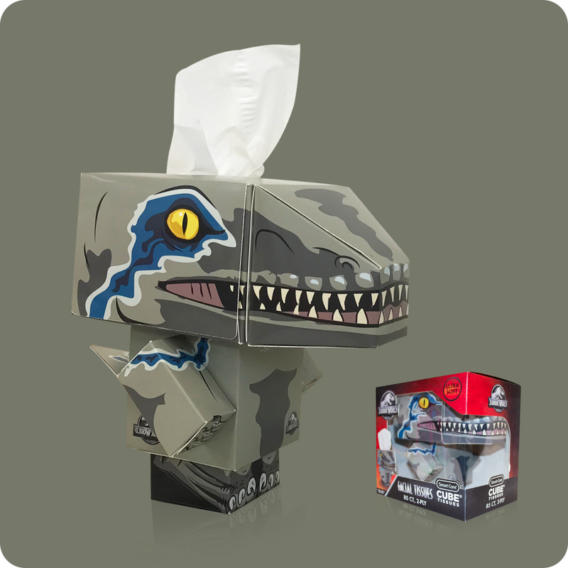 Jurassic World Cube Tissue Box - Smart Care