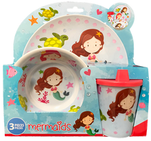 Load image into Gallery viewer, Smart Care Melamine 3 Piece Dinner Set - Mermaids - Smart Care