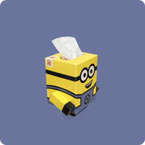 Minions Mini Cube Tissue Box - Smart Care
