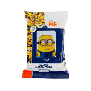 Smart Care Minions Saline Nasal Wipes 25 Count