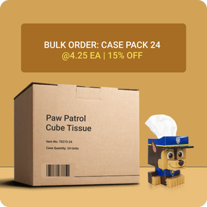 Paw Patrol Cube Tissue Box - Case Pack 24