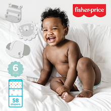 Load image into Gallery viewer, Smart Care Fisher Price Diapers - Size 6 (Count 58, 144)