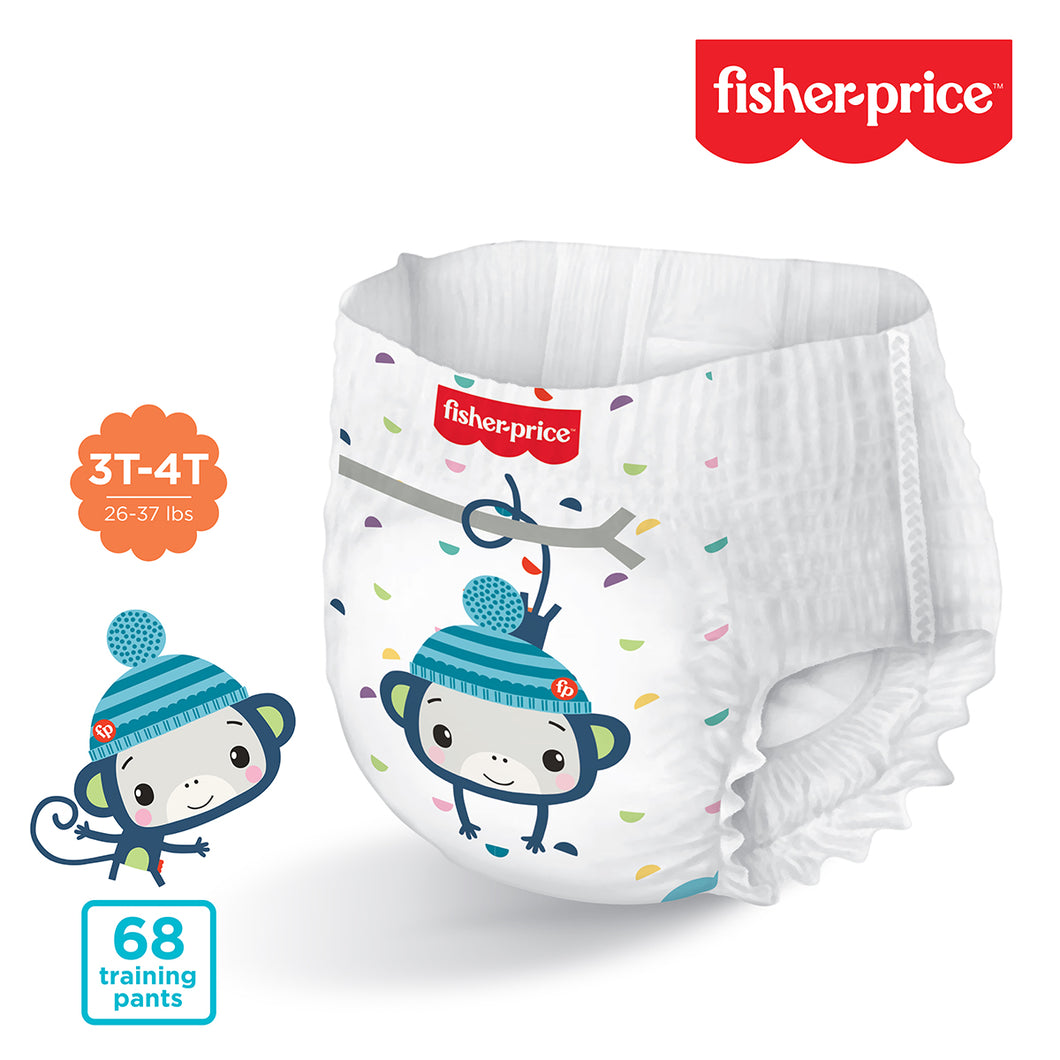 Smart Care Fisher Price Training Pants | 3T4T Boys - 68 Counts