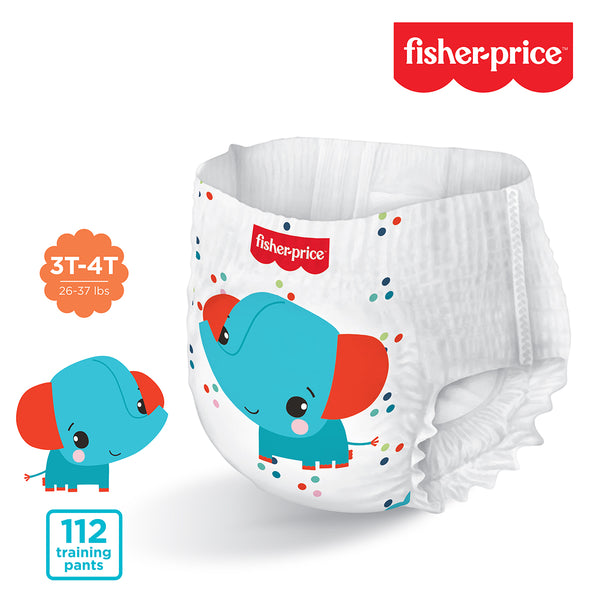 Fisher-Price Training Pants | 3T4T Girls - 112 Counts