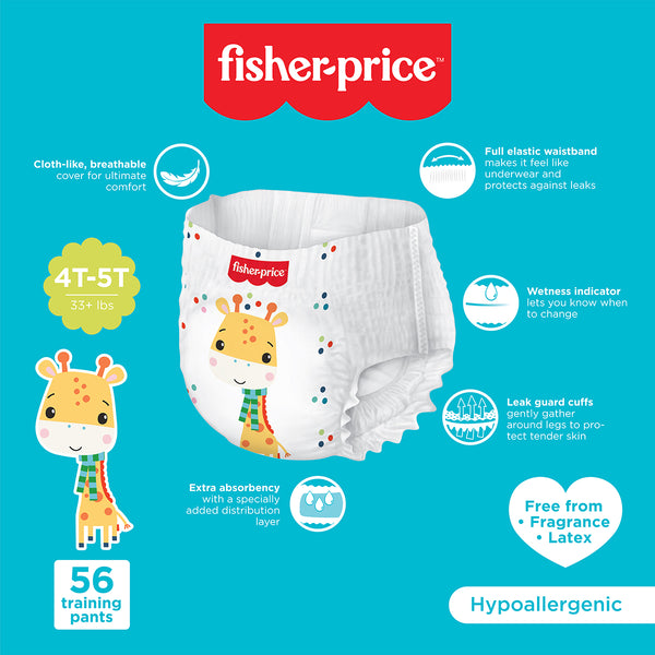 Fisher-Price Training Pants | 4T5T Girls - 56 Counts