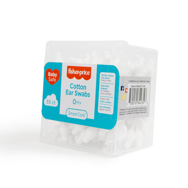 Fisher-Price Baby Cotton Ear Swabs - 55 ct