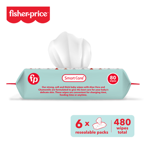 Smart Care Fisher Price Baby Wipes - 6 Pack (480, 800 Counts)
