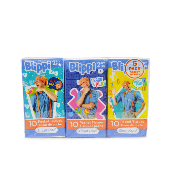 Smart Care Blippi Pocket Tissue 6 pack
