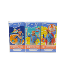 Load image into Gallery viewer, Smart Care Blippi Pocket Tissue 6 pack