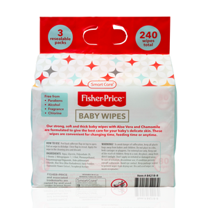 Smart Care Fisher Price Baby Wipes 80 Count - 3 Pack
