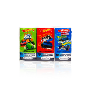 Smart Care Hot Wheels Pocket Tissue 6 pack - Smart Care