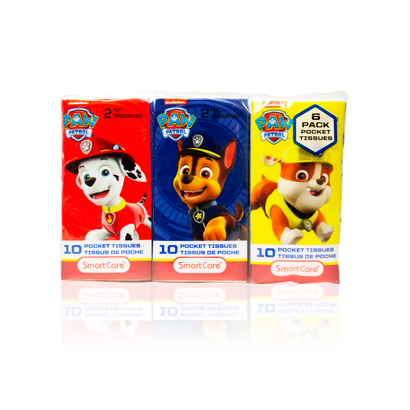Smart Care Paw Patrol Pocket Tissue 6 Pack - Smart Care