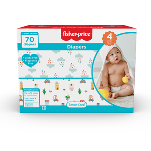Smart Care Fisher Price Diapers - Size 4 (Count 70, 192)