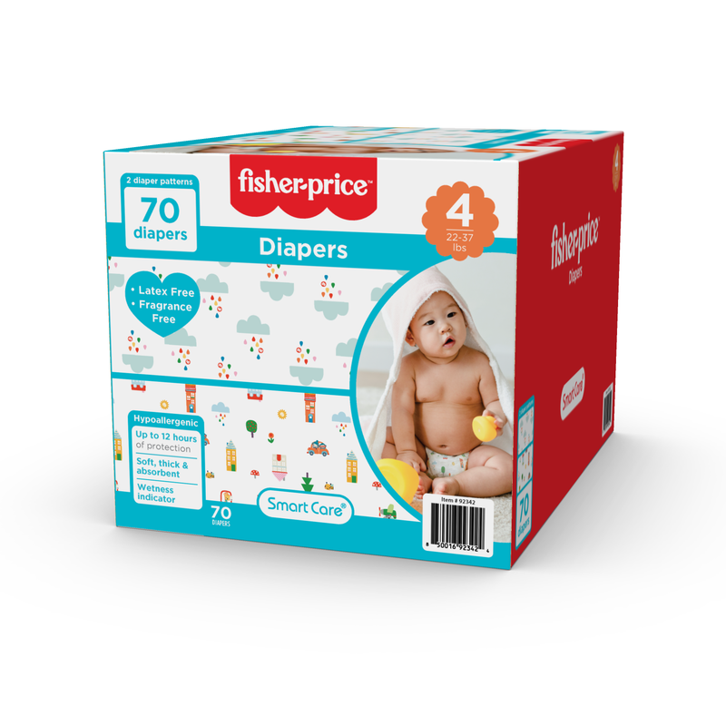 Fisher-Price Diapers - Size 4 (Count 70, 192)