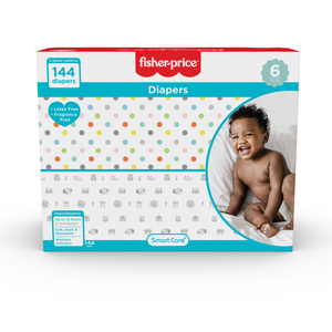 Smart Care Fisher Price Diapers - Size 6 (Count 58, 144)