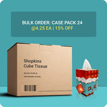 Load image into Gallery viewer, Shopkins Cube Tissue Box - Case Pack 24