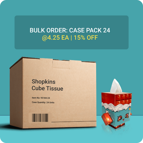 Shopkins Cube Tissue Box - Case Pack 24