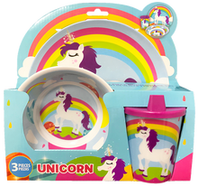 Load image into Gallery viewer, Smart Care Melamine 3 Piece Dinner Set - unicorn - Smart Care