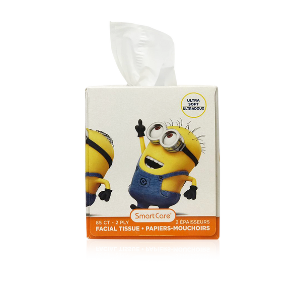 Smart Care Minions Tissue Box - 85 Count 2 Ply