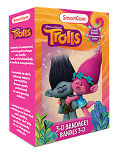 Load image into Gallery viewer, Smart Care Trolls Character Bandages 20 Count - Smart Care