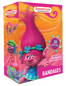 Smart Care Trolls Bandages 20 Count - Smart Care