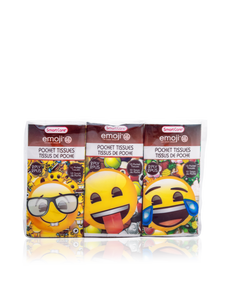 Smart Care Emoji Pocket Facial Tissues 6 Pack - Smart Care