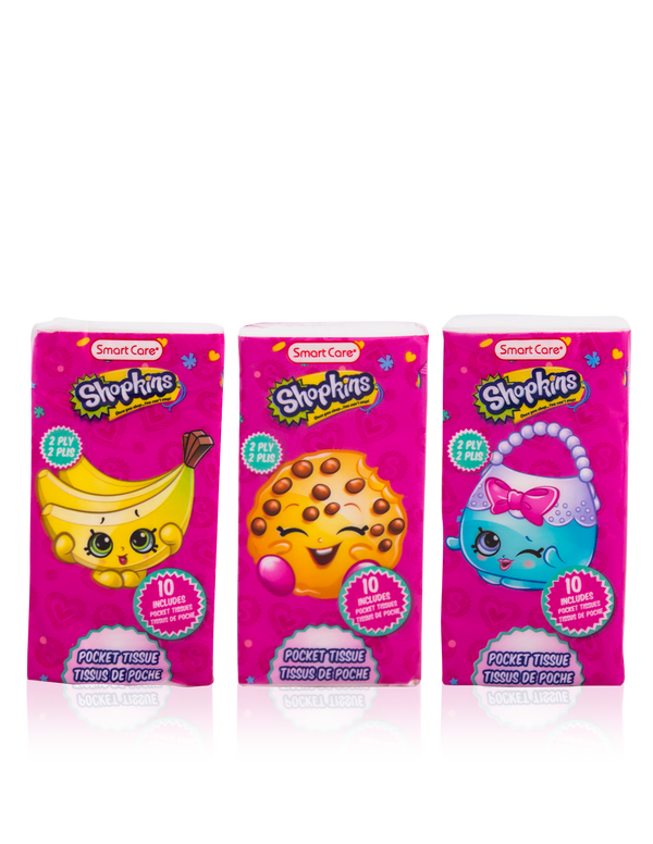 Smart Care Shopkins Pocket Facial Tissues 6 Pack - Smart Care
