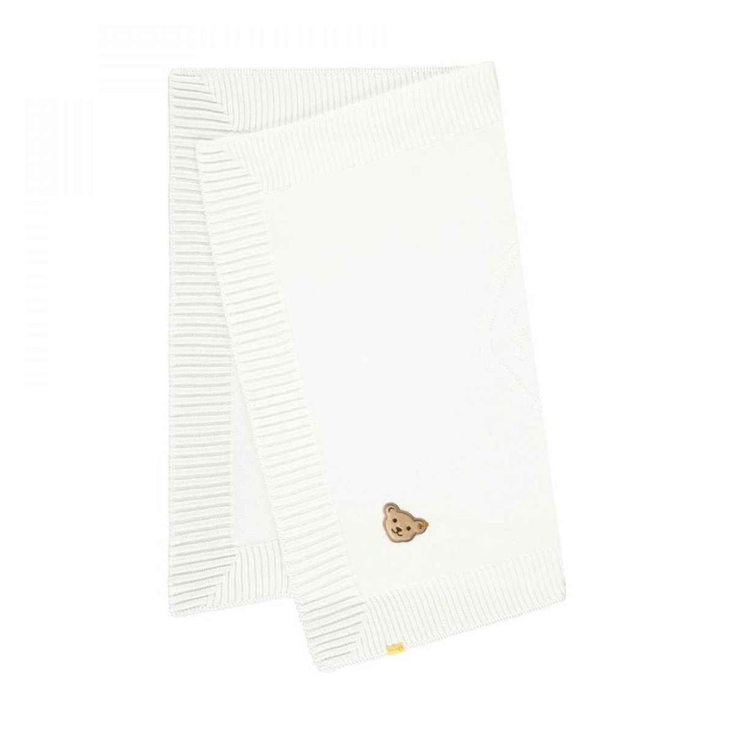 Steiff Knit Blanket in Cream