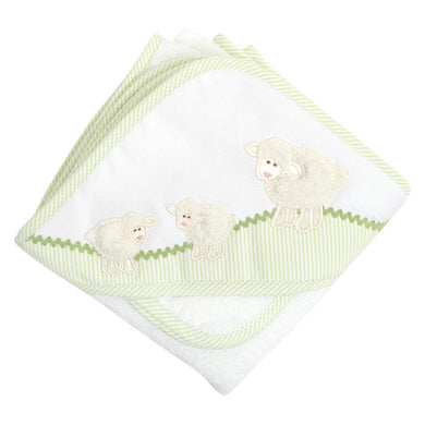 Lamb Hooded Towel and Washcloth Set