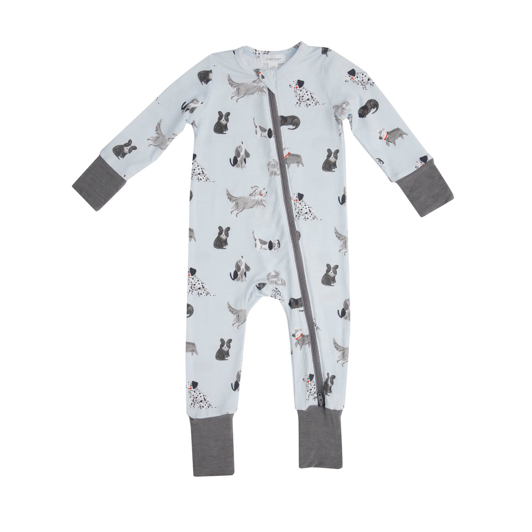 Grey Hounds Zipper Romper