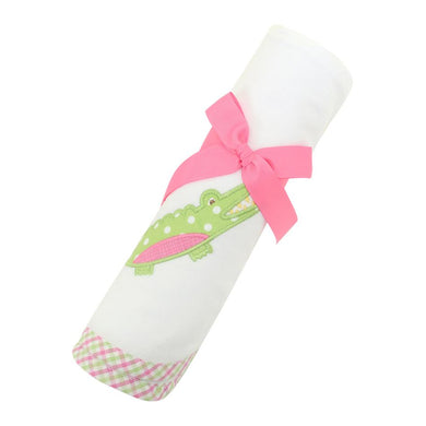 Pink Alligator Swaddle Blanket