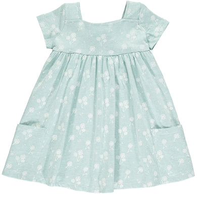 Aqua Dandelion Rylie Dress