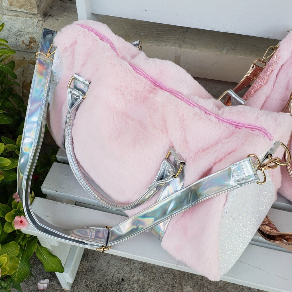 Fur and Glitter Duffel Bag