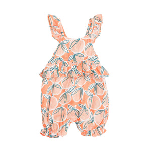 Peachy Ruffle Empire Waist Shortie Romper