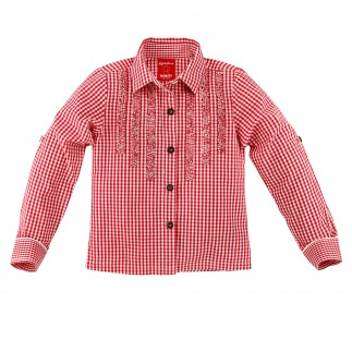 Red Check Trachten Blouse