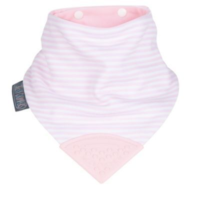 Cool Pink Stripe Chew Bib