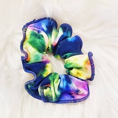 Navy Splatter Scrunchie