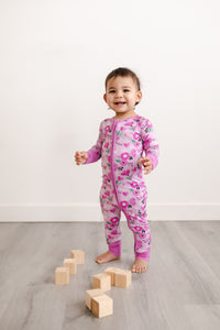 Sweetheart Floral Convertible Romper/Sleeper