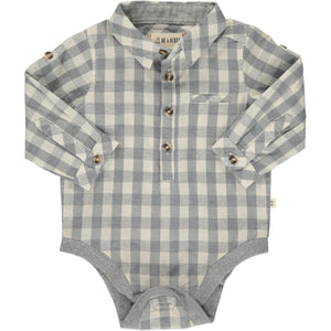 Grey Plaid Onesie