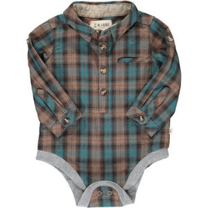 Brown Plaid Onesie