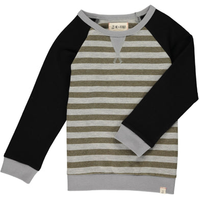 Beige and Grey Raglan Sweatshirt