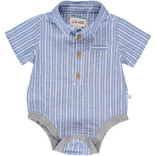 Helford Blue and White Striped Onesie