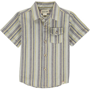 Yellow and Beige Stripe Newport Short Sleeve Shirt