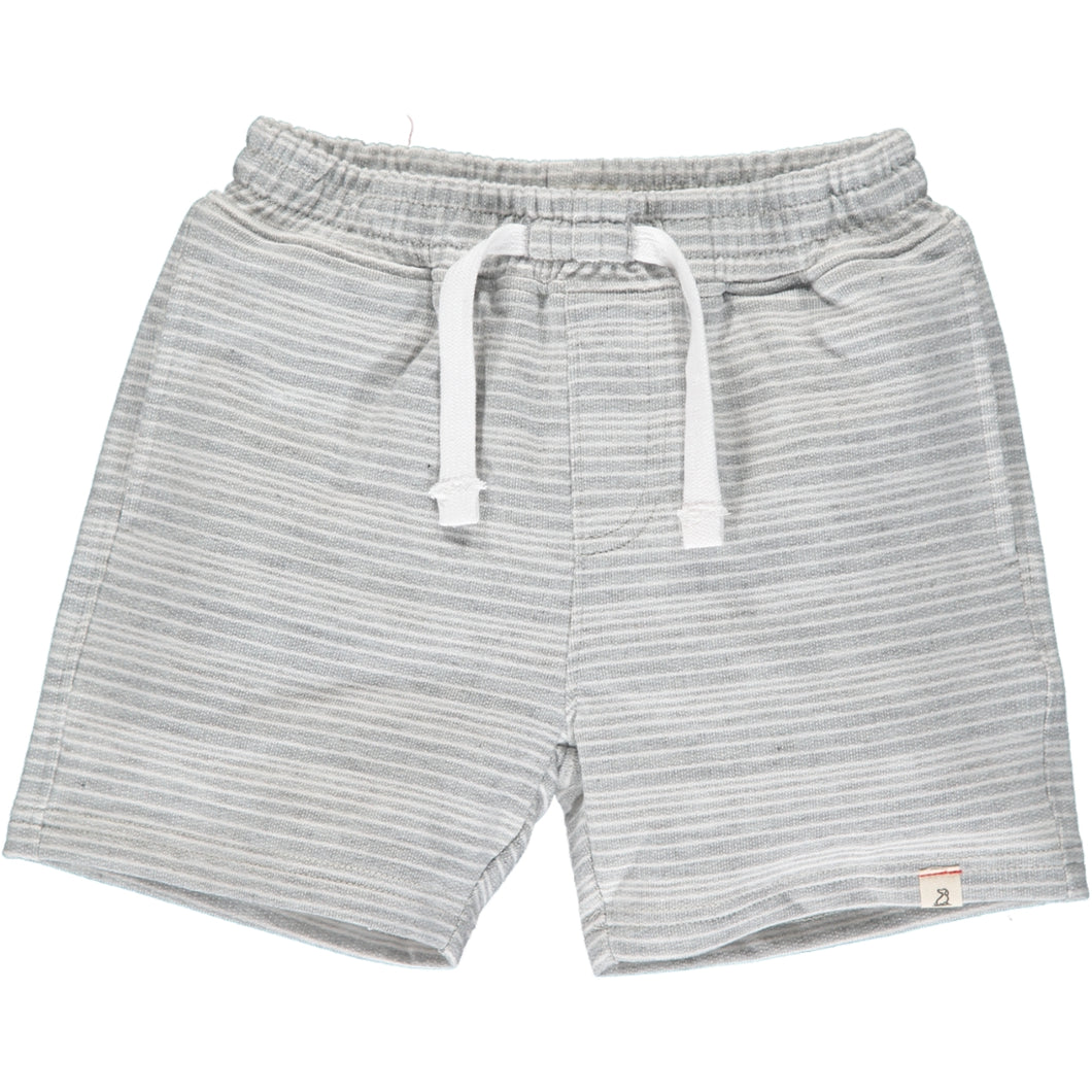 Soft Grey and White Striped Shorts